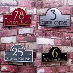 Karen & Stephen Personalised House Sign Door Number Street Address Plaque Modern BRIDGE Glass in Home, Furniture & DIY, Home Decor, Plaques & Signs