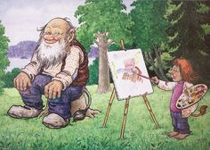 Troll painting by Rolf Lidberg.