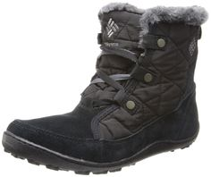 Columbia Women's Minx Shorty Omni-heat Snow Boot, Black, Shale, 10.5 B US. Removable insole. Adjustable circumference.