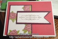 Valentine's Day Card made from CTMH Products