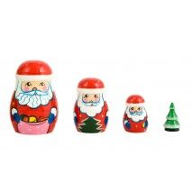 Julemands Babushka sæt med 4