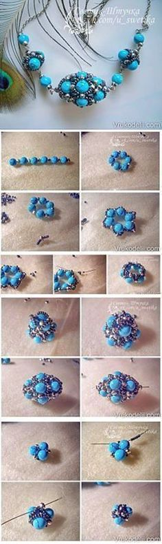 Beaded beads tutorials and patterns, beaded jewelry patterns, wzory bizuterii koralikowej, bizuteria z koralikow - wzory i tutoriale #beadedjewelrypatterns
