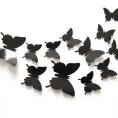 12 Pcs/Lot PVC 3D DIY Butterfly Wall Stickers Home Decor Poster for Kitchen Bathroom Adhesive to Wall Decals Decoration 1387845