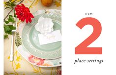 How to Style a Wedding Table // By Camille Styles // Item Two: Place Settings