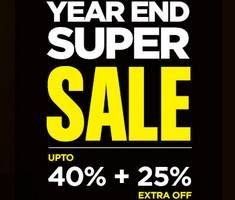 New Pepperfry Year End Super Sale with Upto 40% + Extra 25% Off on Everything you order. Use Pepperfry Year End Super Sale coupon to get discount on any purchase for New Year celebration etc. Valid for limited time only.