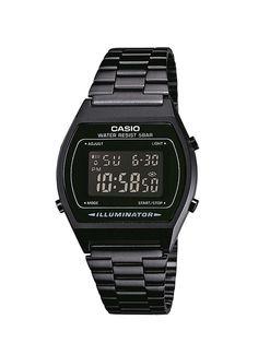 Casio B640WB-1BEF - Reloj analógico de cuarzo unisex con correa de acero inoxidable, color negro