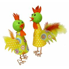 Hahn und Henne | Eine wunderschöne Bastelidee für Ostern