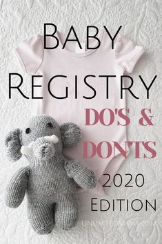Baby registry do's and don'ts checklist Baby registry checklist full of essentials for your newborn baby. Help people know what to buy for a baby shower and give first time moms an Baby Registry Essentials, Best Baby Registry, Baby Registry Items, Baby Registry Must Haves, Baby Registry Checklist, Newborn Essentials, Baby Shower Registry, Target Registry Baby, New Baby Essentials List