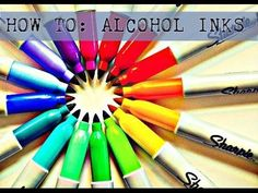 Make Alcohol Inks @ Home W/Sharpie's!!! EASY D.I.Y - YouTube