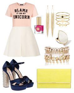 """Cute Colour Outfit 2016"" by diamondanna ❤ liked on Polyvore featuring Valentino, Henri Bendel, Miu Miu, River Island, Ippolita, Accessorize, Panacea, Estée Lauder, women's clothing and women's fashion"