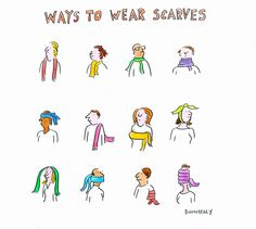 ways to wear scarves for wow