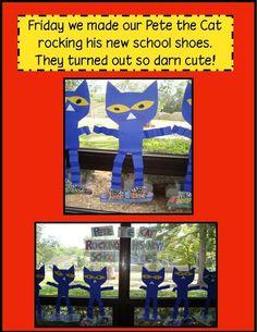 Golden Gang Kindergarten: August 2012 Pete the Cat Rocking in My School Shoes art project Beginning Of The School Year, First Day Of School, Pre School, Back To School, School Stuff, Kindergarten Crafts, Kindergarten Reading, Kindergarten Classroom, Book Activities