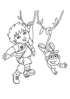 top 10 diego coloring pages your toddler will love to color - Coloring Pages Toddlers