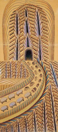 Outsider artist Martín Ramírez (1895-1963, Auburn California) drew hundreds of intricate images on discarded paper while living in a mental institute.  An all time favorite