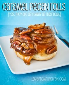 National Sticky Bun Day?  Well if it's a holiday, then we must!  These are beyond amazing and easy - even if you are yeast challenged!  @LoveFromTheOven