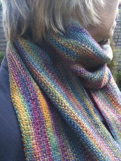 Linen stitch scarf with Koigu KPPPM, just one colorway, and boy...it's a doozy.  :)  <3  Gotta make this.