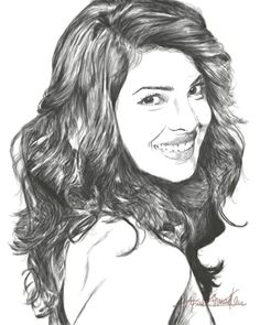 my new priyanka chopra sketch :)