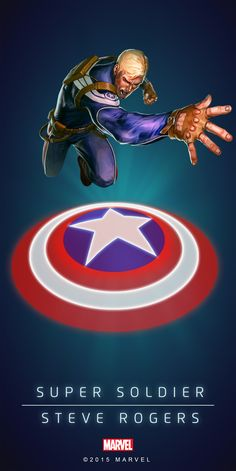 """#Captain America #Fan #Art. (SUPER SOILDER - STEVE ROGERS IN: MARVEL'S PUZZLE QUEST!) BY: AMADEUS CHO! (THE * 5 * STÅR * ÅWARD * OF: * AW YEAH, IT'S MAJOR ÅWESOMENESS!!!™)[THANK U 4 PINNING!!!<·><]<©>ÅÅÅ+(OB4E)(IT'S THE MOST ADDICTING GAME ON THE PLANET, YOU HAVE BEEN WARNED!!!)(YOU WANT TO FIND THE REST OF THE CHARACTERS, SIMPLY TAP THE """"URL"""" HERE:  https://www.pinterest.com/ezseek/puzzle-quest-art/ (THANK YOU FOR DOING ALL YOUR PINNING AT: HERO WORLD!)"""
