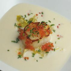 Ricetta Capesante al Gratin Menu, Eggs, Fish, Breakfast, Ethnic Recipes, Cream, Tricycle, Kitchens, Menu Board Design
