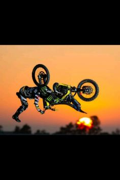Sunset and motorcross. Love motorcross. Please check out my website thanks. www.photopix.co.nz