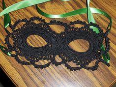 Crochet Lace Crochet Lace Mask by arhoglen - Free Pattern - Crochet Mask, Thread Crochet, Love Crochet, Crochet Crafts, Yarn Crafts, Crochet Toys, Crochet Flowers, Yarn Projects, Crochet Projects
