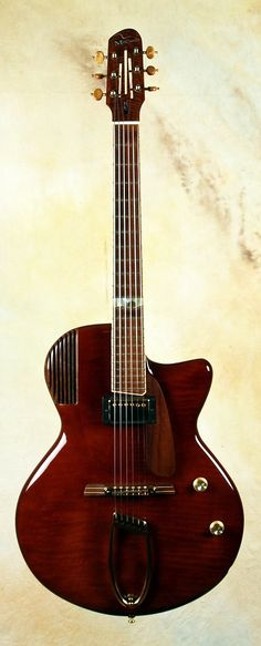 "McCurdy Custom Jazz Perfecta | CR Guitars - strong resemblance to my Deadly Mando ""Lambretto"" body shape... thus it is a beauty!"