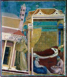 Giotto - Il papa sogna San Francesco che sostiene il Laterano | Flickr - Photo Sharing!