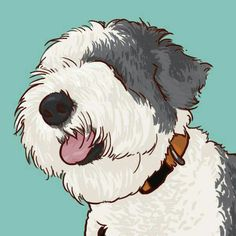 Old English Sheperd Old English Sheepdog Puppy, Puppy Crafts, English Shepherd, Bearded Collie, Pet Peeves, New Puppy, Beautiful Dogs, Dog Art, Animal Drawings