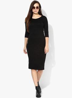 de863e7bbf0 Buy MIAMINX Black Solid Bodycon Dress Online - 2954940 - Jabong