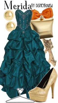 I'm not actually a huge fan of the movie Brave but I'm so in love with this dress! I love Merida too!