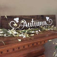 Who doesnt love fall?! Leaves changing color, warm drinks and scarves! Add this handmade Autumn sign to your home for a little extra farm house feel or rustic charm! This sign looks perfect hung on the wall or on a tabletop or mantle!  This item is made out of reclaimed pallet wood, hand stained in dark walnut, and hand painted in white!  **Each piece of wood will differ, due to it being a natural supply**   Custom orders available