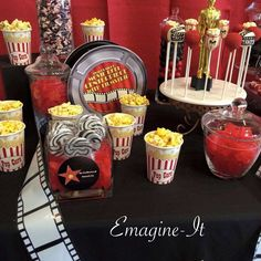 Fantastic Hollywood birthday party! See more party ideas at CatchMyParty.com!