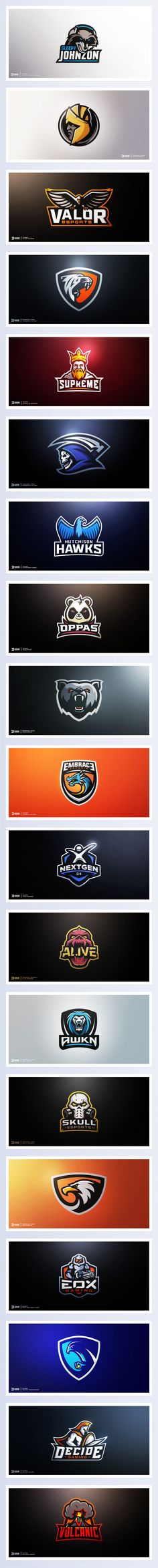 25 ideas for sport logo inspiration graphics behance Logo Esport, Typography Logo, Typography Design, Branding Design, Logo Inspiration, Gfx Design, Graphic Design, Logo Professionnel, Logos Online