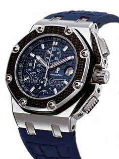 Audemars Piguet Royal Oak Offshore Montoya Limited $105,000 #watches #men #AudemarsPiguet #chronograph developed in partnership between the brand & F1 Race car driver Juan Pablo Montoya