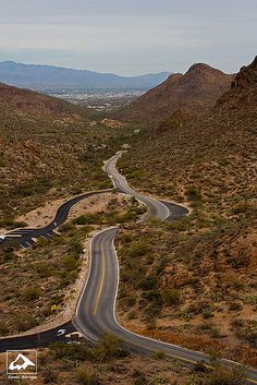 Gates Pass Road - Tucson, Arizona..We've cruised down this scenic road many times.