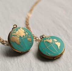 World Map Locket