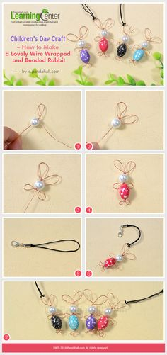 These DIY wire wrapped and bead rabbit ornaments are great for u to make some easy crafts with kids to spare their weekends,
