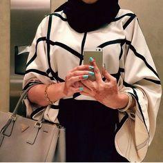 .#MyEidFashionPick Hajib Fashion, Abaya Fashion, Woman Fashion, Modest Fashion, High Fashion, Muslim Women Fashion, Islamic Fashion, Turban, Hijab Fashion Inspiration