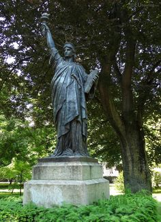 A scale replica of the famous Statue of Liberty, found within Jardin du Luxembourg, Paris.  Interested in more? www.eutouring.com/images_paris_statues_301.html