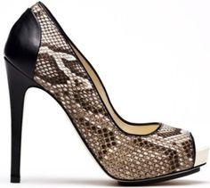 Burak Uyan open-toed snakeskin pump Dorothy Johnson