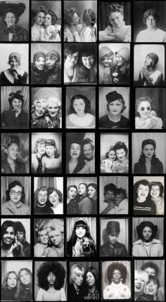 1900s to 1970s: Women in photobooths, Pretty cool