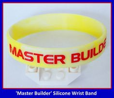Master Builder Party Favor Wrist Band  Youth Size by KidsPartyKits, $1.59