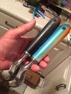 Mike C. made the handles for these ice cream scoops with fishing lures