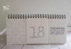 Ewiger Kalender mit Zitaten von e2grafikwerkstatt auf Etsy
