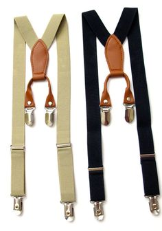 Suspenders for Boys + Infants! Make your little man look like a Gentleman in our Suspenders and Bow Ties! We have several colors with high quality brown leather! Making your little ones look Cuter than ever!