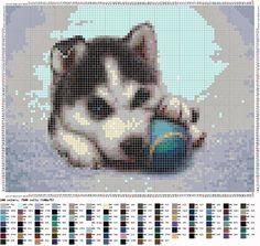 Ricami e schemi a Punto Croce gratuiti: Punto croce - Cani di razza Husky