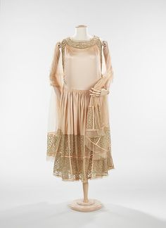 Evening dress Design House: House of Lanvin (French, founded 1889) Designer: Jeanne Lanvin (French, 1867–1946) Date: fall/winter 1923–24 Culture: French Medium: silk, metal