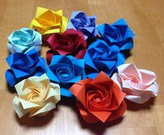 二重螺旋の折り紙のバラ Double helix origami rose