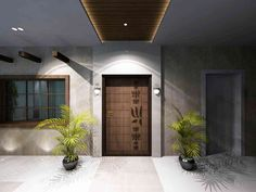 The entrance space at the residence - Design by Samanth Gowda