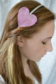 Sparkle Heart Headband DIY